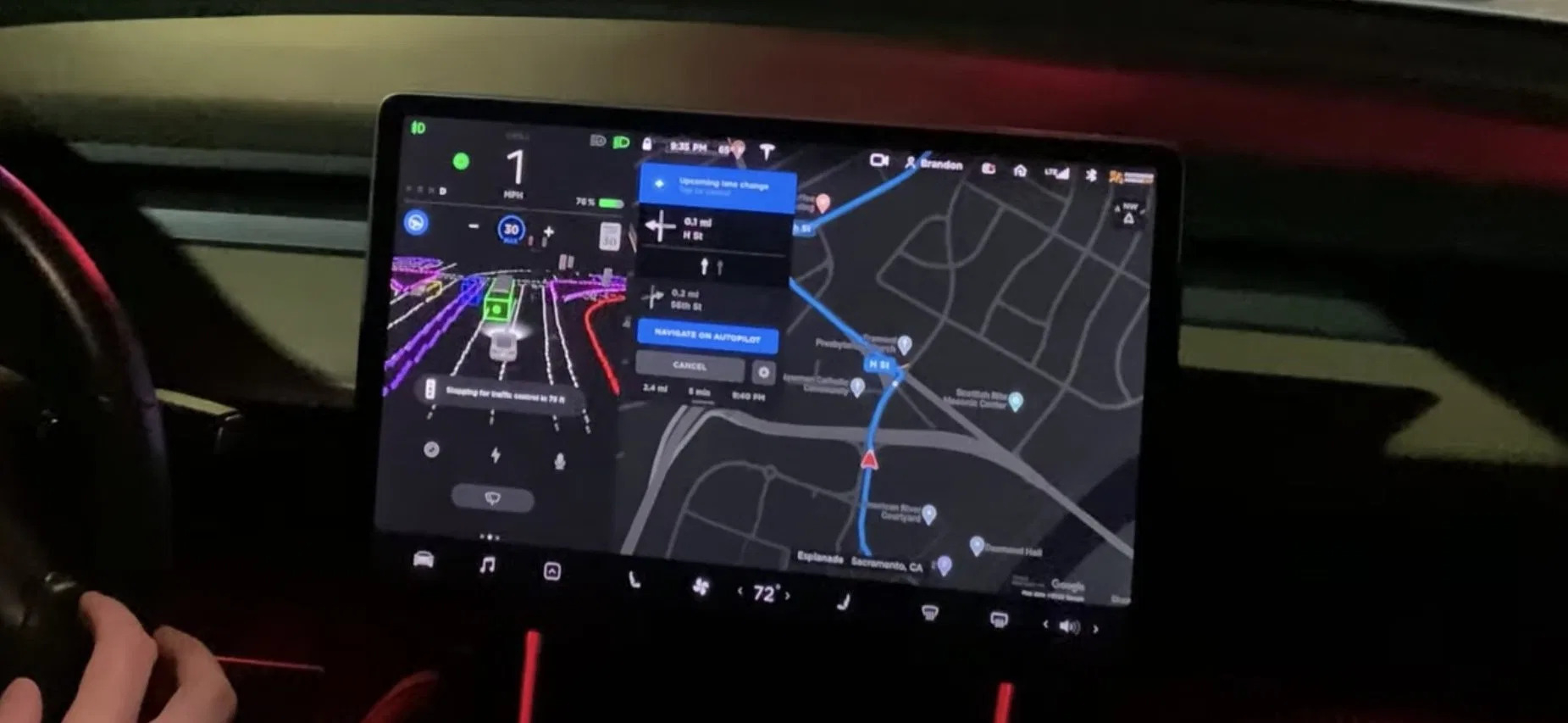 Tesla Full Self Driving Beta MisterGreen