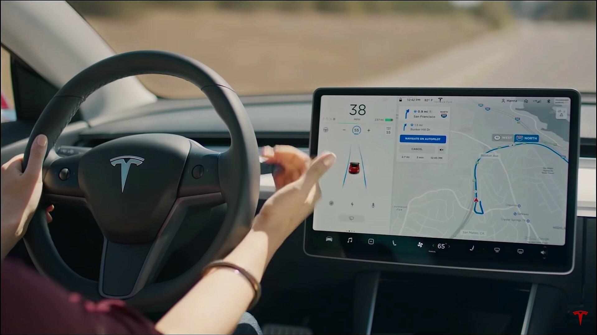 Tesla autopilot Full Self Driving Actie